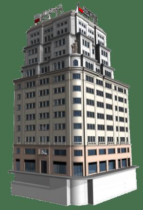 Modelo 3D de edificio histórico