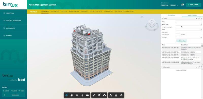 captura de pantalla de sistema BIMUX