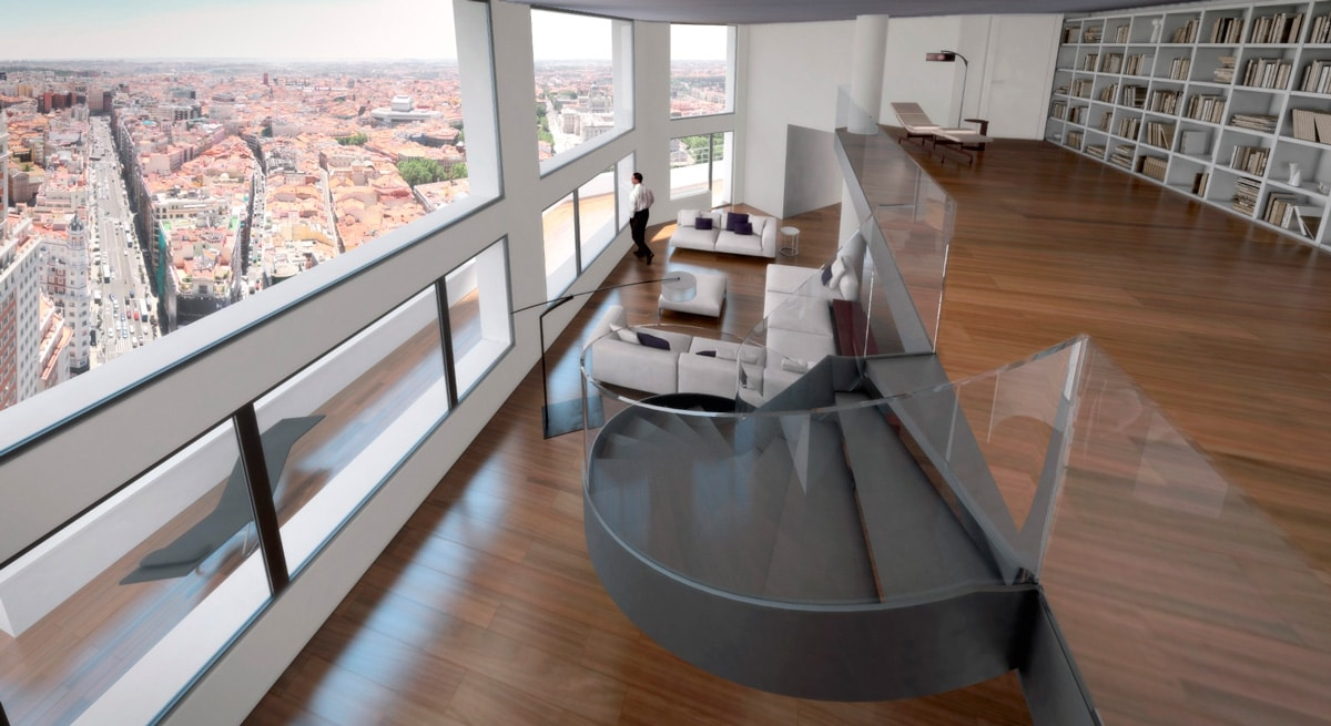METROVACESA, TORRE DE MADRID– FLOOR  33 – DUPLEX APARTMENTS